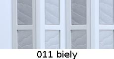 harmonikové dvere Crystalline Glass: farba 011 biely