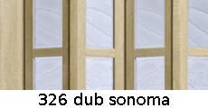 harmonikové dvere Crystalline Glass: farba 326 dub sonoma