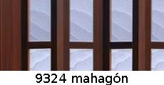 harmonikové dvere Crystalline Glass: farba 9324 mahagón