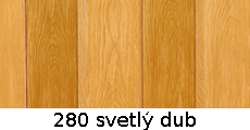 harmonikové dvere Crystalline Royal: farba 280 svetlý dub