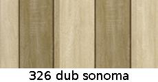 harmonikové dvere Crystalline Royal: farba 326 dub sonoma