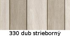 harmonikové dvere Crystalline Royal: farba 330 dub strieborný