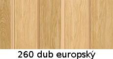 harmonikové dvere Pioneer: farba 260 dub europský