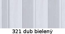 harmonikové dvere Pioneer: farba 321 dub bielený