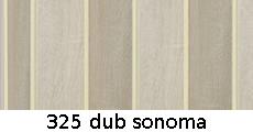 harmonikové dvere Pioneer: farba 325 dub sonoma