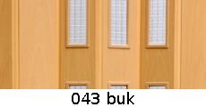 harmonikové dvere Pioneer Glass: farba 043 buk