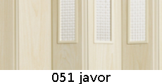 harmonikové dvere Pioneer Glass: farba 051 javor
