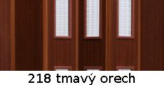 harmonikové dvere Pioneer Glass: farba 218 tmavý orech