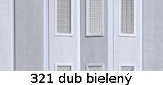 harmonikové dvere Pioneer Glass: farba 321 dub bielený