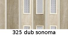 harmonikové dvere Pioneer Glass: farba 325 dub sonoma