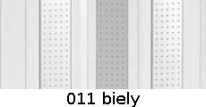 harmonikové dvere Silver Spark: farba 011 biely