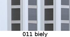 harmonikové dvere Silver Square: farba 011 biely