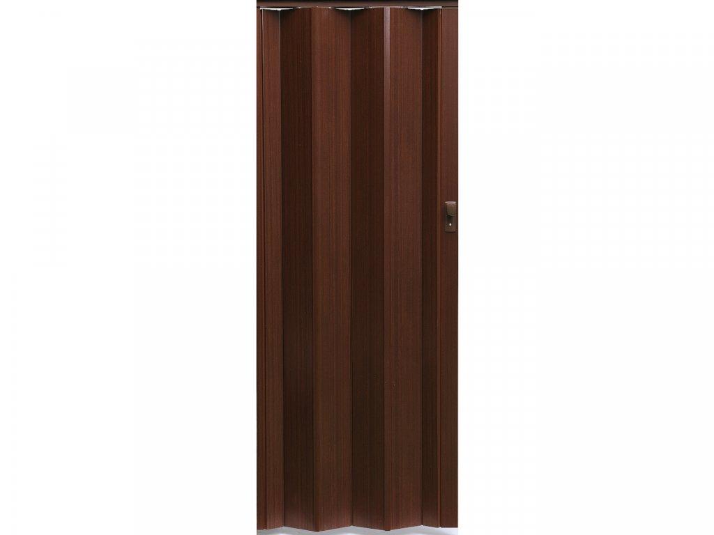 harmonikové dvere Crystalline Royal farba tmavý orech 218
