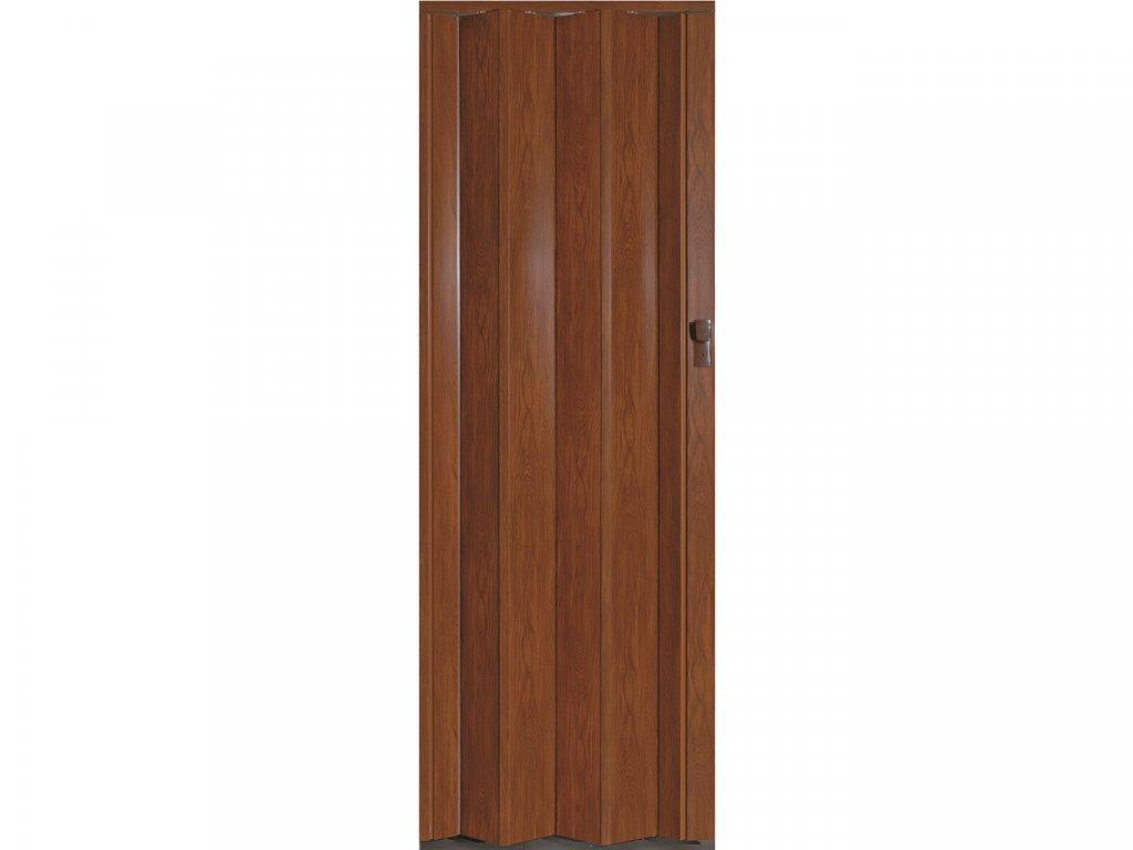 harmonikové dvere Crystalline Royal farba svetlý orech 288
