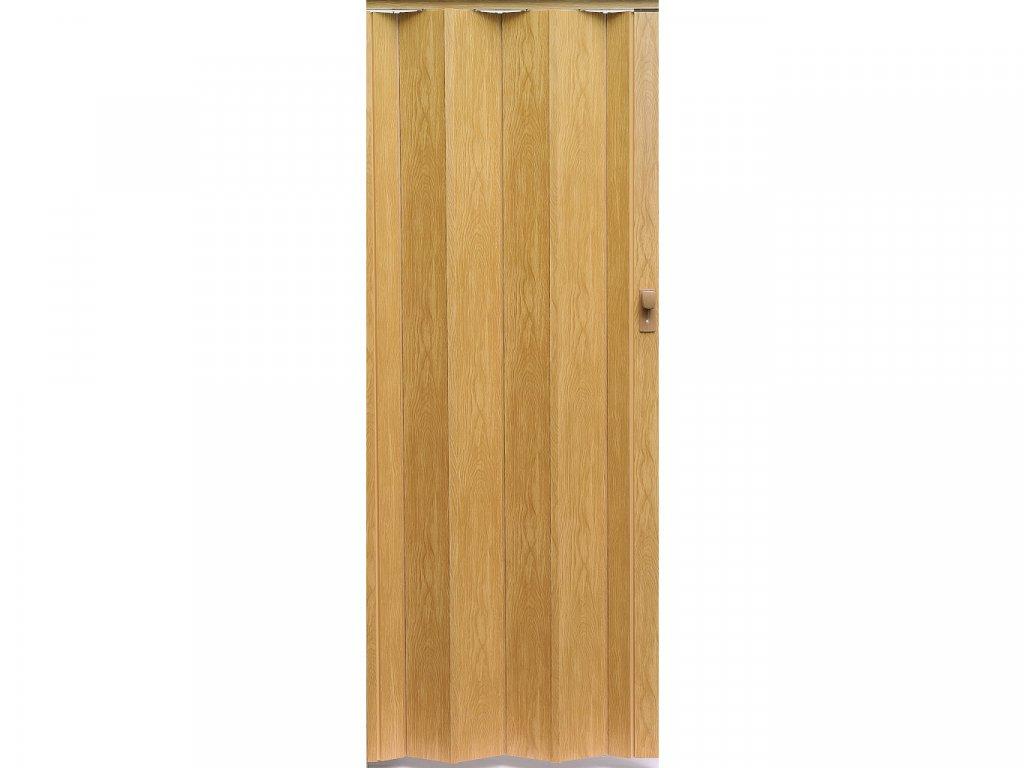 harmonikové dvere Crystalline Royal farba svetlý dub 280