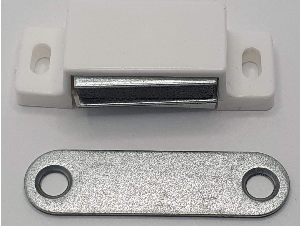 Magnetka pre sieťkové dvere biela
