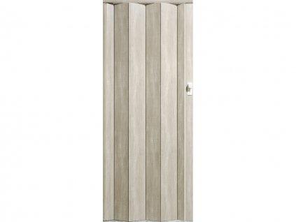 harmonikové dvere Crystalline Royal farba dub strieborný 330