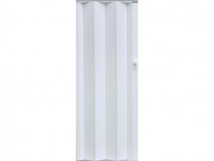 harmonikové dvere Crystalline Royal farba biela 011