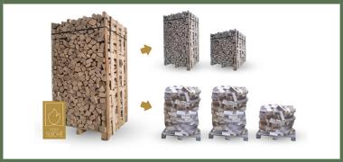 Rozdíl mezi sypaným a rovnaným dřevem