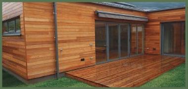 Terasy z jehličnatých dřevin – západní červený cedr