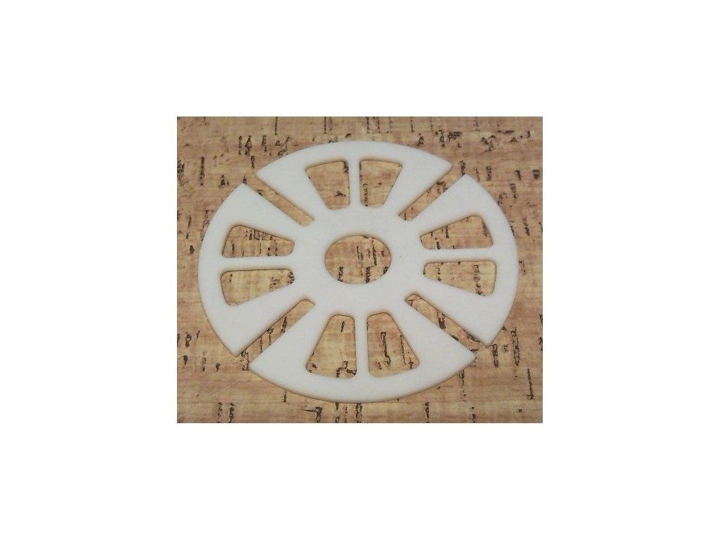 vložka gumová tlumicí R, průměr 109 x 3 mm, bílá
