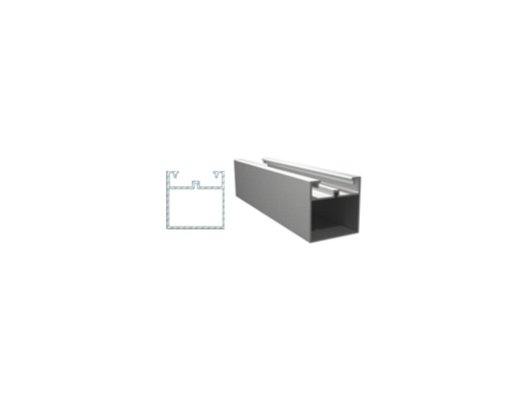 Podkladový hliníkový profil, 50 x 50 mm