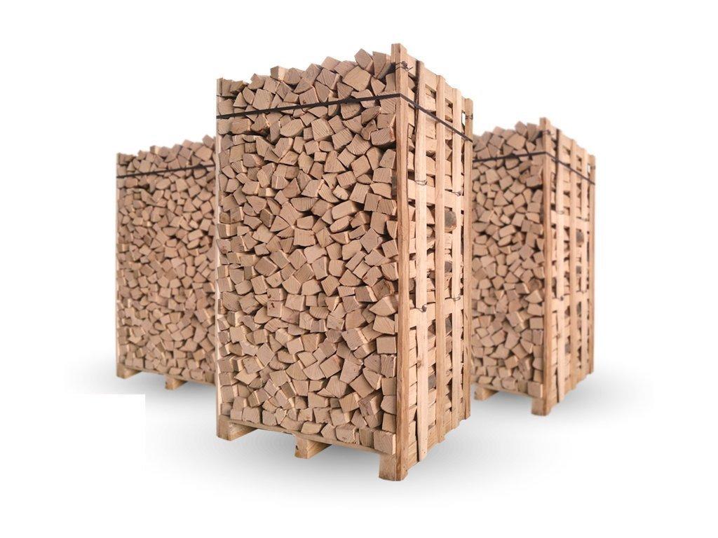 Palivové dřevo - suché (33 cm)-Štípaná polena