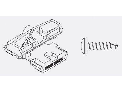 Balenie PVC spona a skrutka