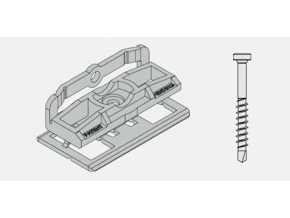 Bal. PVC spona, skrutka a montážný bit pre podkl. profil twinson