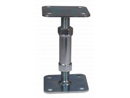 Patka pilíře stavitelná P/L závit 80x80 mm, galvanický zinek
