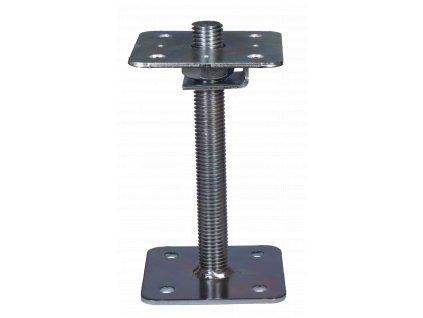 Patka pilíře 110x110-250 mm, matice M24 s poistkou, galvanický zinek