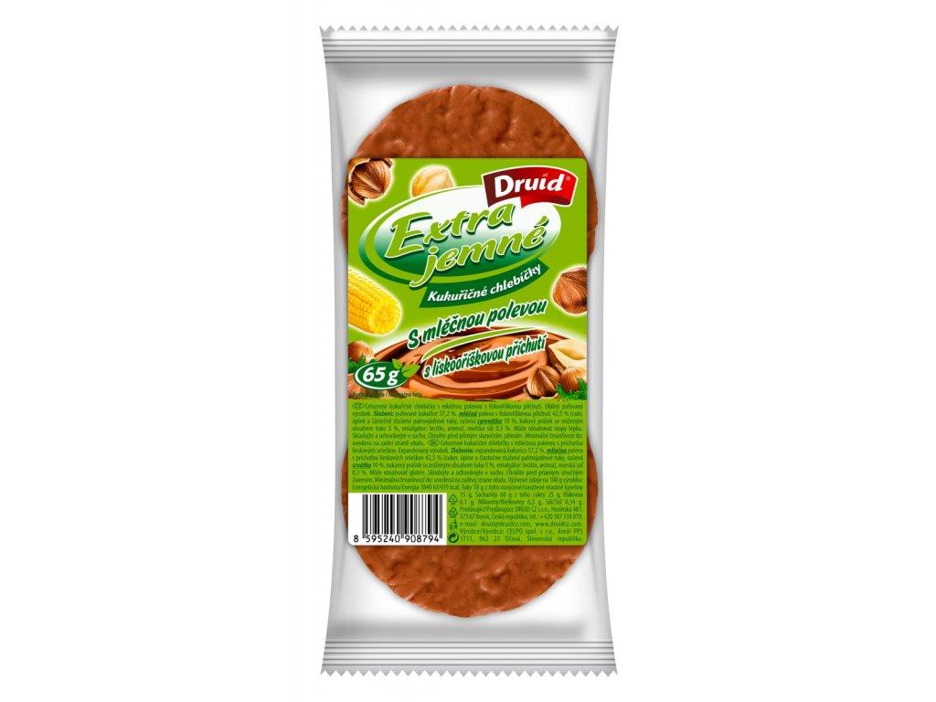 Kukuřičné chlebíčky s lískooříškovou polevou DRUID