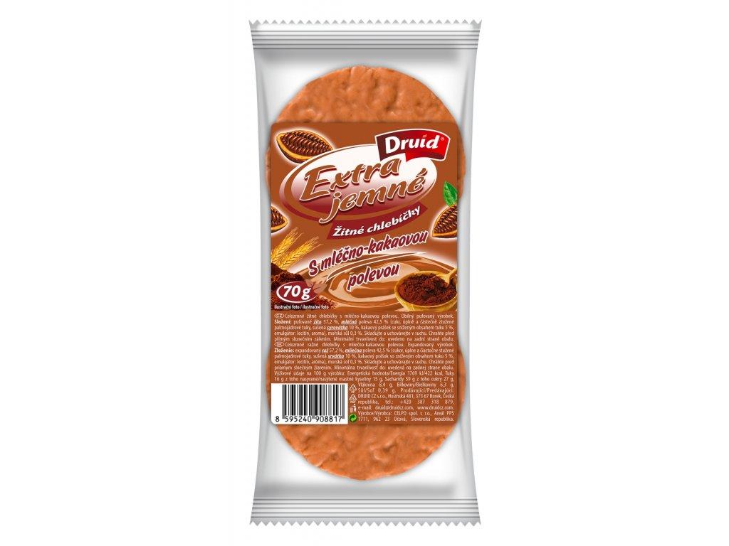 Žitné chlebíčky s mléčno kakaovou polevou DRUID