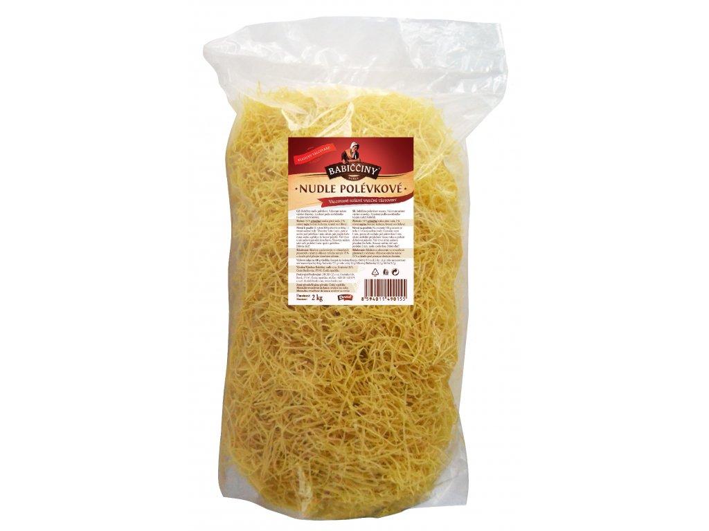 Babiččiny nudle válcované polévkové 2 kg