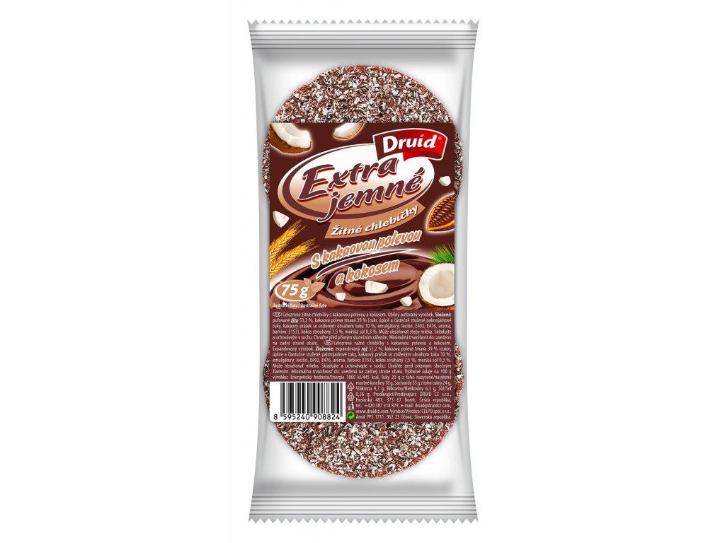 Žitné chlebíčky s kakaovou polevou a kokosem DRUID