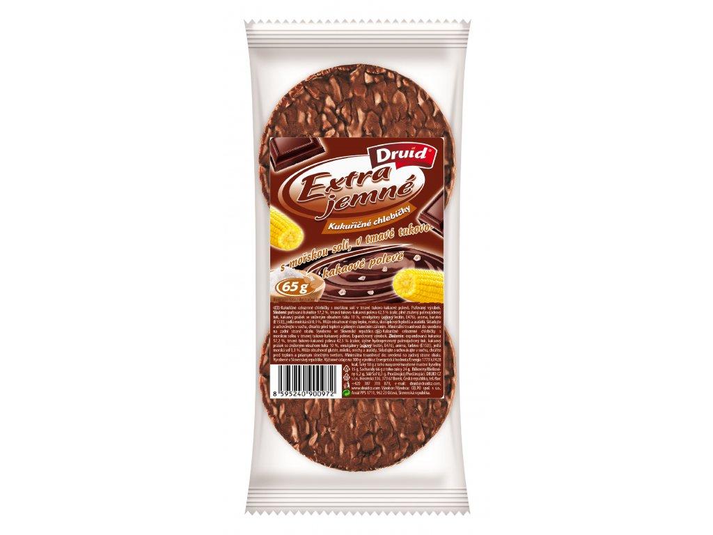 Kukuřičné chlebíčky se solí, v tmav.tukovo kakaové polevě DRUID