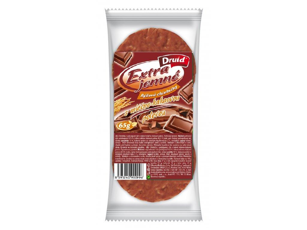 Rýžové chlebíčky s mléčno kakaovou polevou DRUID