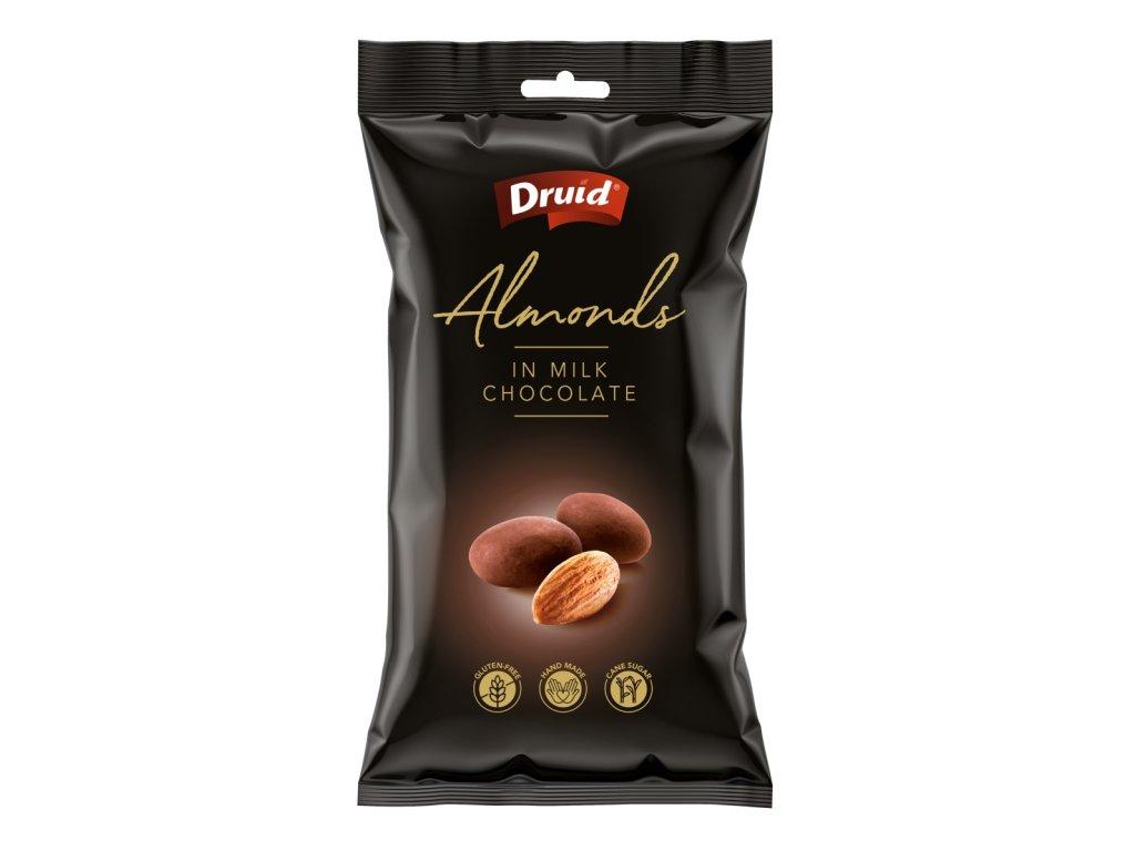 Mandle v mléčné čokoládě DRUID