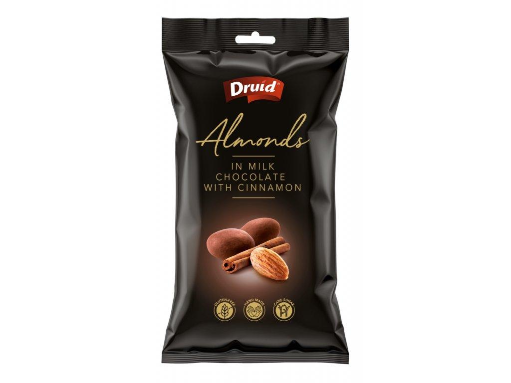 Mandle v mléčné čokoládě se skořicí DRUID