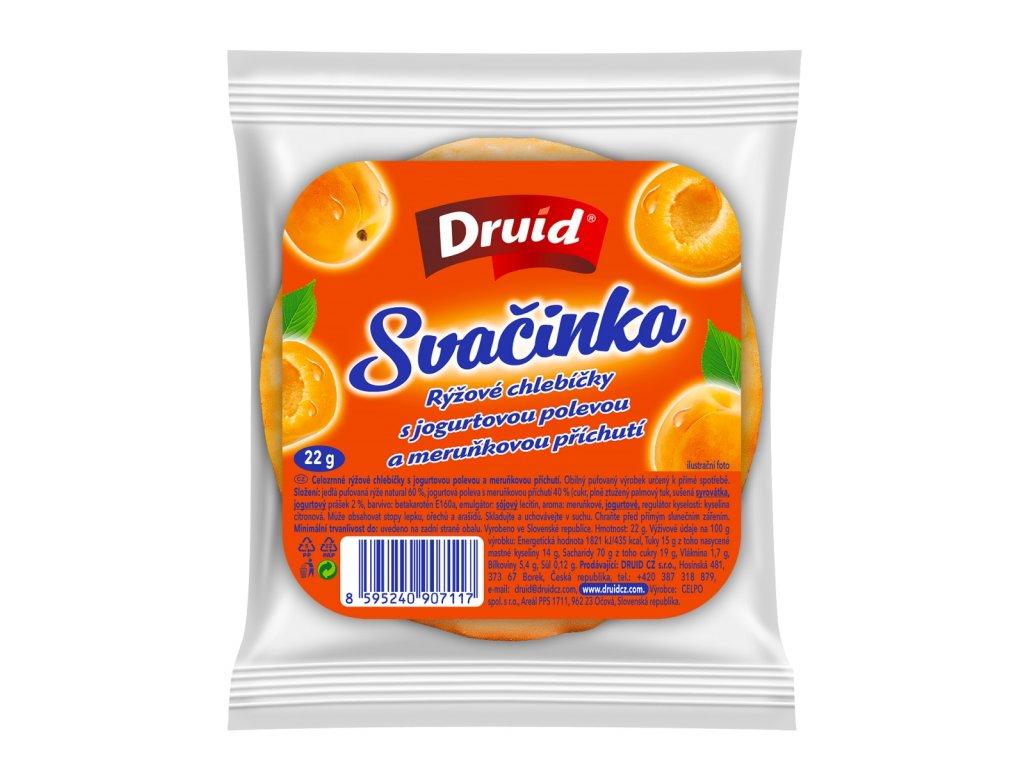 Chlebíčky rýžové Svačinka s jogurtovou pol. a meruňkovou příchutí DRUID