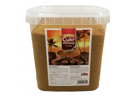 Třtinový cukr Very Dark (hranatý kyblík) DRUID 4 kg