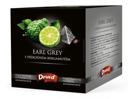Earl Grey s přírodním bergamotem černý ochucený čaj DRUID 27 g