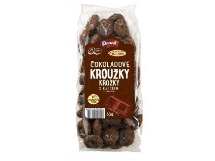 Kroužky čokoládové s karobem DRUID 80 g