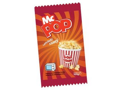 MC POP s příchutí slanou (mikro popcorn) 100 g DRUID