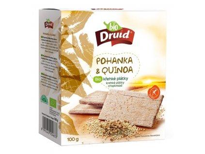 Pohanka a quinoa BIO křehké plátky DRUID