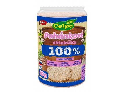 Chlebíčky 100% Natural Pohanka s mořskou solí DRUID