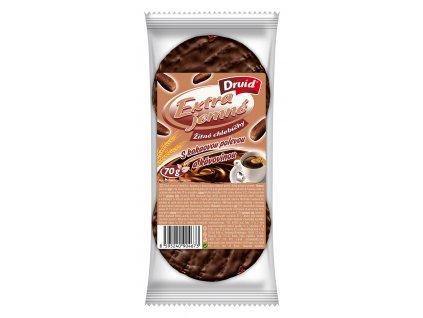 Žitné chlebíčky s kakaovou polevou a kávovinou DRUID