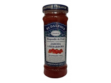 St. Dalfour jahoda,rebarbora ovocná pmazánka