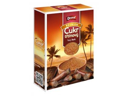 Třtinový cukr Very Dark 400 g (krabička) DRUID