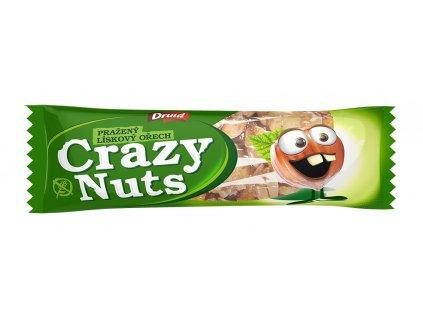 Crazy Nuts Pražený lískový ořech v mléčné čokoládě DRUID